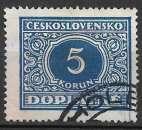 miniature Tchecoslovaquie Taxe 1928 Y&T 64 oblitéré (trace de charnière)