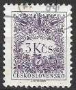 miniature Tchecoslovaquie Taxe 1954 Y&T 90 oblitéré
