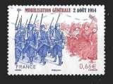 miniature France - Y&T 4889 (o) -La mobilisation générale du 2 aout 1914 - année 2014