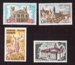 miniature France 1972  Y&T 1712 - 1713 - 1725 - 1726  **  série touristique    cote 4,80€