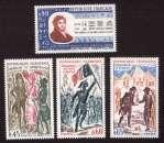 miniature France 1972  Y&T 1729 à 1731 et 1734  ** Histoire de France et Champollion   cote 3,15€