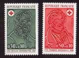 miniature France 1972  Y&T 1735 - 1736  ** croix rouge   cote 1,60€