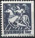 miniature Suède 1981 Oblitéré Used Odin à cheval Mythologie Nordique SU