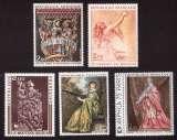 miniature France 1973  Y&T 1741 à 1743 - 1765 - 1766  **  oeuvres d'art tableaux, boiseries  cote 7,25€
