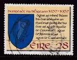 miniature TIMBRE OBLITERE D'IRLANDE - CINQUANTENAIRE DE LA CONSTITUTION : ARMES DE L'IRLANDE N° Y&T 638