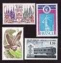 France 1978 Y&T  2016 - 2017 - 2018 - 2022  **    cote 3,40€