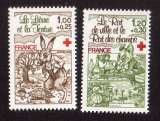 France 1978 Y&T  2024 - 2025  ** croix rouge fables de La Fontaine   cote 2,00€