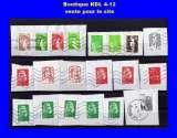 FRANCE - Oblitéré sur fragment - Lot de 20 timbres Marianne diverses