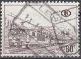 miniature Belgique 1968 COB Colis Postaux 394 Cote (2016) 0.25 Euro Locomotive électrique Cachet rond
