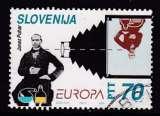 miniature TIMBRE OBLITERE DE SLOVENIE - EUROPA 1994 : PHOTOGRAPHIE SUR PLAQUE DE VERRE N° Y&T 78
