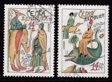 miniature PAIRE OBLITEREE DE REP. TCHEQUE - EUROPA 1994 : L'EUROPE ET LES DECOUVERTES N° Y&T 35/36