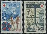miniature FRANCE 1974 NEUF** MNH N° 1828 1829 Croix-Rouge