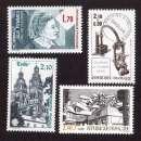 miniature Fr 1985 Y&T 2361 - 2362 - 2365 - 2370 ** femmes, journée du timbre, Tours, architecture  cote 4,60€