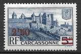 miniature France 1940-41 Y&T 490 neuf sans charnière - Carcassonne (scan dos)