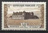 miniature France 1951 Y&T 913 neuf sans charnière - Château du Clos de Vougeot (scan dos)