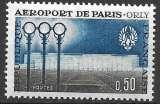 miniature France 1961 Y&T 1283 neuf sans charnière - Aéroport de Paris (scan dos)