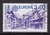 miniature TIMBRE OBLITERE D'ANDORRE FR. - EUROPA 1987 : STATION DE SPORTS D'HIVER PLETA D'ORDINO N° Y&T 359
