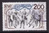 miniature TIMBRE OBLITERE DE FRANCE - EUROPA 1981 : LA SARDANE (PAYS CATALANS) N° Y&T 2139