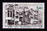 miniature TIMBRE OBLITERE DE FRANCE - EUROPA 1987 : RUE MALLET-STEVENS, PARIS 16EME N° Y&T 2472