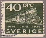 miniature Rétrospective de locomotives - Train-express avec wagon-poste