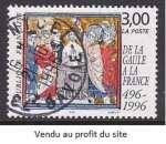 TIMBRE OBLITERE DE FRANCE - LE BAPTEME DE CLOVIS N° Y&T 3024