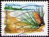 miniature France - 2009 - Y&T n° AA 309 - Obl. - Le Pin maritime - Flore des régions - Aquitaine