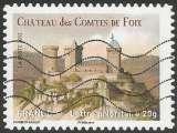 miniature France - 2012 - Y&T n° AA 715 - Obl. - Château des Comtes de Foix - Ariège - Pyrénées