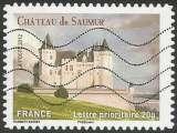miniature France - 2012 - Y&T n° AA 717 - Obl. - Château de Saumur - Maine-et-Loire