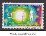 TIMBRE OBLITERE DE FRANCE - CINQUANTENAIRE DE ELECTRICITE DE FRANCE-GAZ DE FRANCE N° Y&T 2996