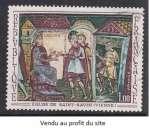 miniature TIMBRE OBLITERE DE FRANCE - FRESQUE DE L'ABBAYE DE SAINT-SAVIN N° Y&T 1588