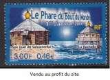 miniature TIMBRE OBLITERE DE FRANCE - PHARE DE SAN JUAN DE SALVAMENTO & SA REPLIQUE A LA ROCHELLE  N° Y&T 3294