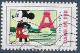 miniature FRANCE 2018 : yt 1582 Oblitéré/Used  # Mickey - Aux pieds de la Dame de Fer
