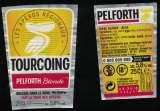 miniature France Lot 2 Étiquettes Bière Beer Labels Pelforth Blonde Tour des Apéros Tourcoing