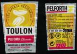 miniature France Lot 2 Étiquettes Bière Beer Labels Pelforth Blonde Tour des Apéros Toulon