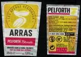 miniature France Lot 2 Étiquettes Bière Beer Labels Pelforth Blonde Tour des Apéros Arras