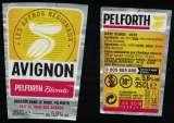 miniature France Lot 2 Étiquettes Bière Beer Labels Pelforth Blonde Tour des Apéros Avignon