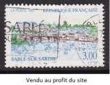 TIMBRE OBLITERE DE FRANCE - SERIE TOURISTIQUE : SABLE-SUR-SARTHE N° Y&T 3107