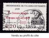 TIMBRE OBLITERE DE FRANCE - 450E ANNIVERSAIRE DE L'ORDONNANCE DE VILLERS-COTTERETS N° Y&T 2609