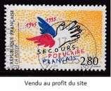 TIMBRE OBLITERE DE FRANCE - CINQUANTENAIRE DU SECOURS POPULAIRE FRANCAIS N° Y&T 2947