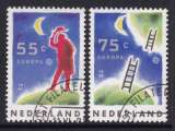 miniature PAIRE OBLITEREE DES PAYS-BAS. - EUROPA 1991 : L'EUROPE ET L'ESPACE N° Y&T 1379/1380