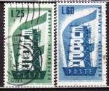 miniature Italie 1956 YT 731-732 Obl Europa