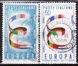 miniature Italie 1957 YT 744-745 Obl Europa