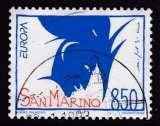 TIMBRE OBLITERE DE SAINT-MARIN - EUROPA 1993 : OEUVRE DE NICOLA DE MARIA N° Y&T 1323
