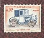 miniature Monaco  Rétrospective automobile YT558 - 1961 neuf** sans trace charnière