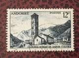 miniature Andorre Paysages de la principauté YT145 - 1955 oblitéré - Sainte-Coloma
