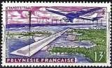 miniature Polynésie 1960 - Avion et aéroport de Papeete ( Mi 19 - YT Pa 5 )