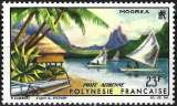miniature Polynésie 1965 - Paysage de Moorea ( Mi 43 - YT Pa 9 ) MH*