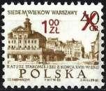 miniature Pologne 1972 - Ancien Hôtel de Ville de Varsovie ( Mi 2195 - YT 2043 ) MNH**
