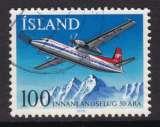 miniature TIMBRE OBLITERE D'ISLANDE - 50E ANNIVERSAIRE DU SERVICE AERIEN INTERIEUR N° Y&T 486