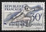 miniature France 1953 - Y&T 962 (o) - Escrime